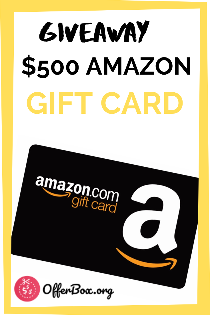 500 Amazon Gift Card Giveaway Gift Card Giveaway Amazon Gift Cards Gift Card