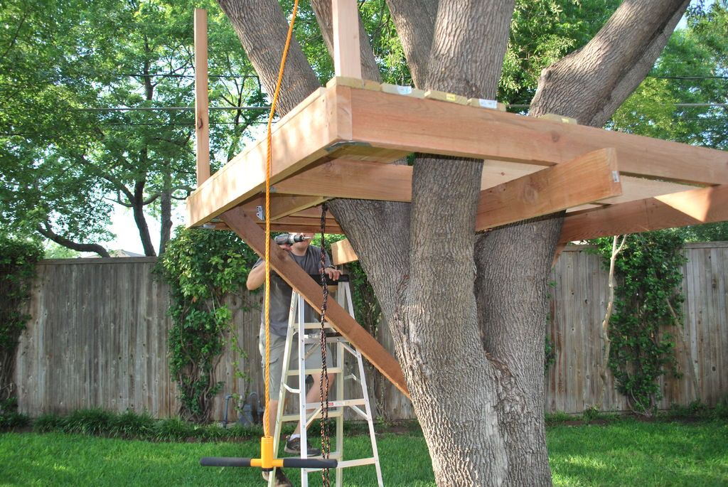 How to build a treehouse treehouse tree houses and for Small tree house