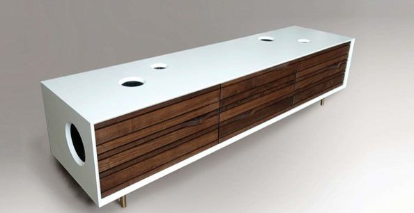 Delightful The Stereo Cabinet A Stylish Art Of Work For Any Average Stereo System  Hometone