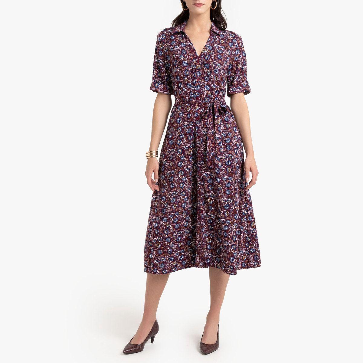 robe longue Évasée, anne weyburn - violet - - 46 (fr) - 44