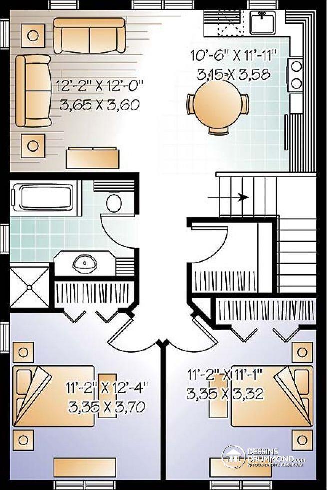 Plan de Étage Garage avec logement à l\u0027étage, chalet champêtre, 2
