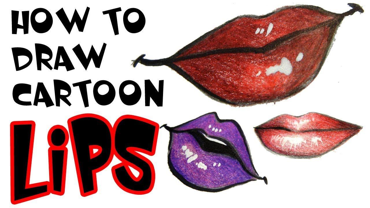 How to draw cartoon lips Lips drawing, Cartoon drawings