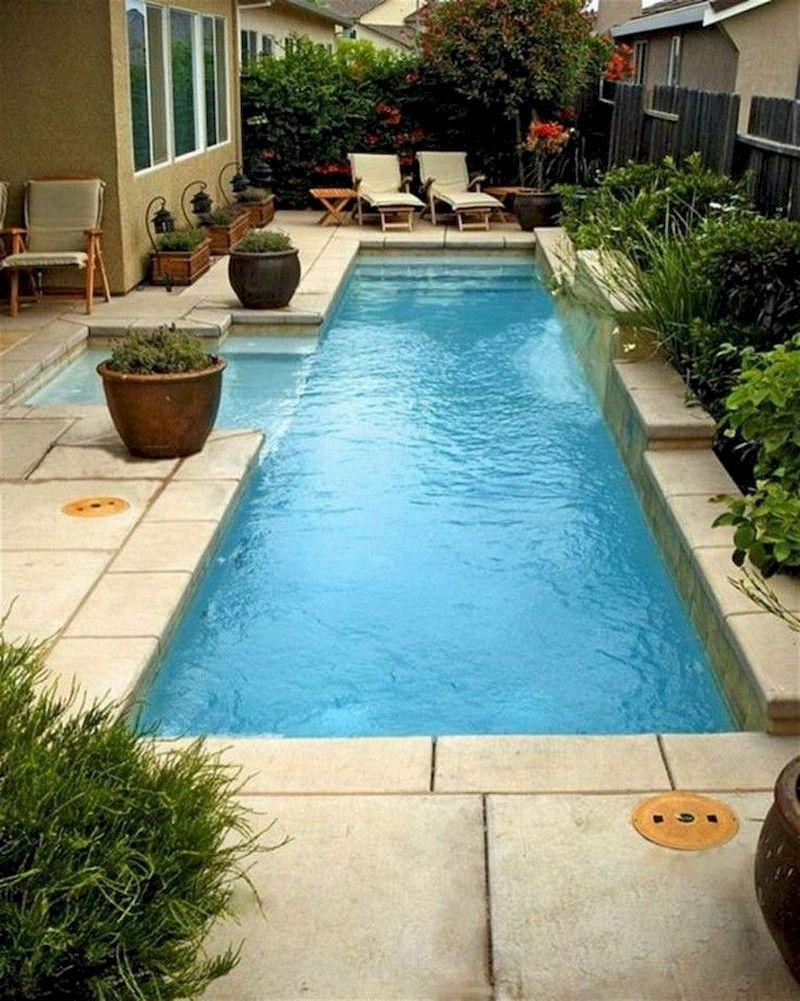 35 Modern Pool Deck Designs For Your Backyard Decorhit Com Kolam Renang Modern Dekorasi Rumah Modern backyard with small pool