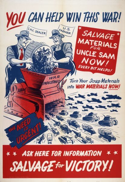 GET IN THE SCRAP World War 2 Giclee Poster Fine Art Reproduction 18x24