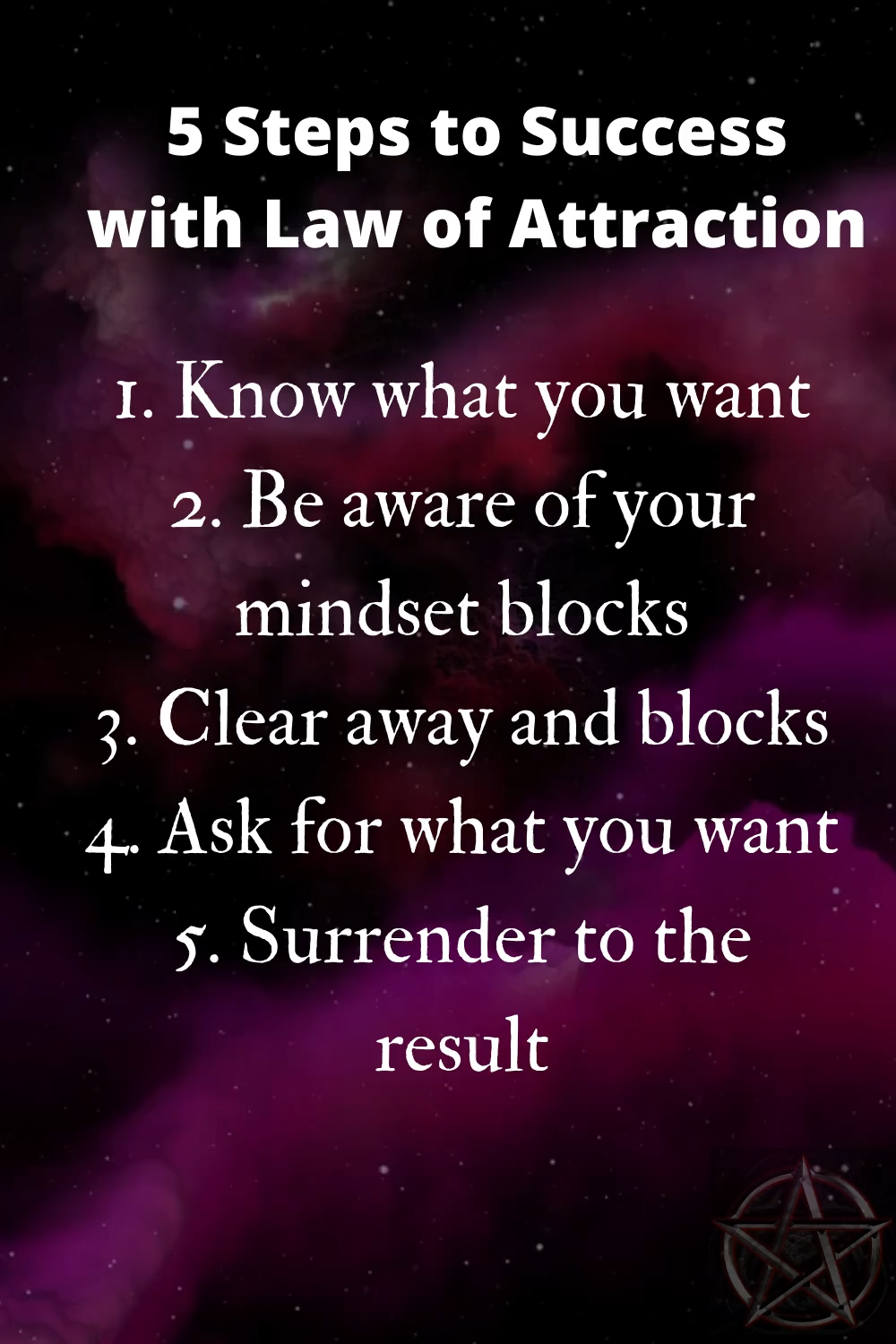 5 Step Law Of Attraction