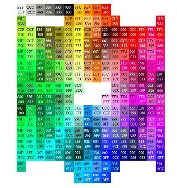 Printable Color Chart With Hex Values Products Web Colors Hex