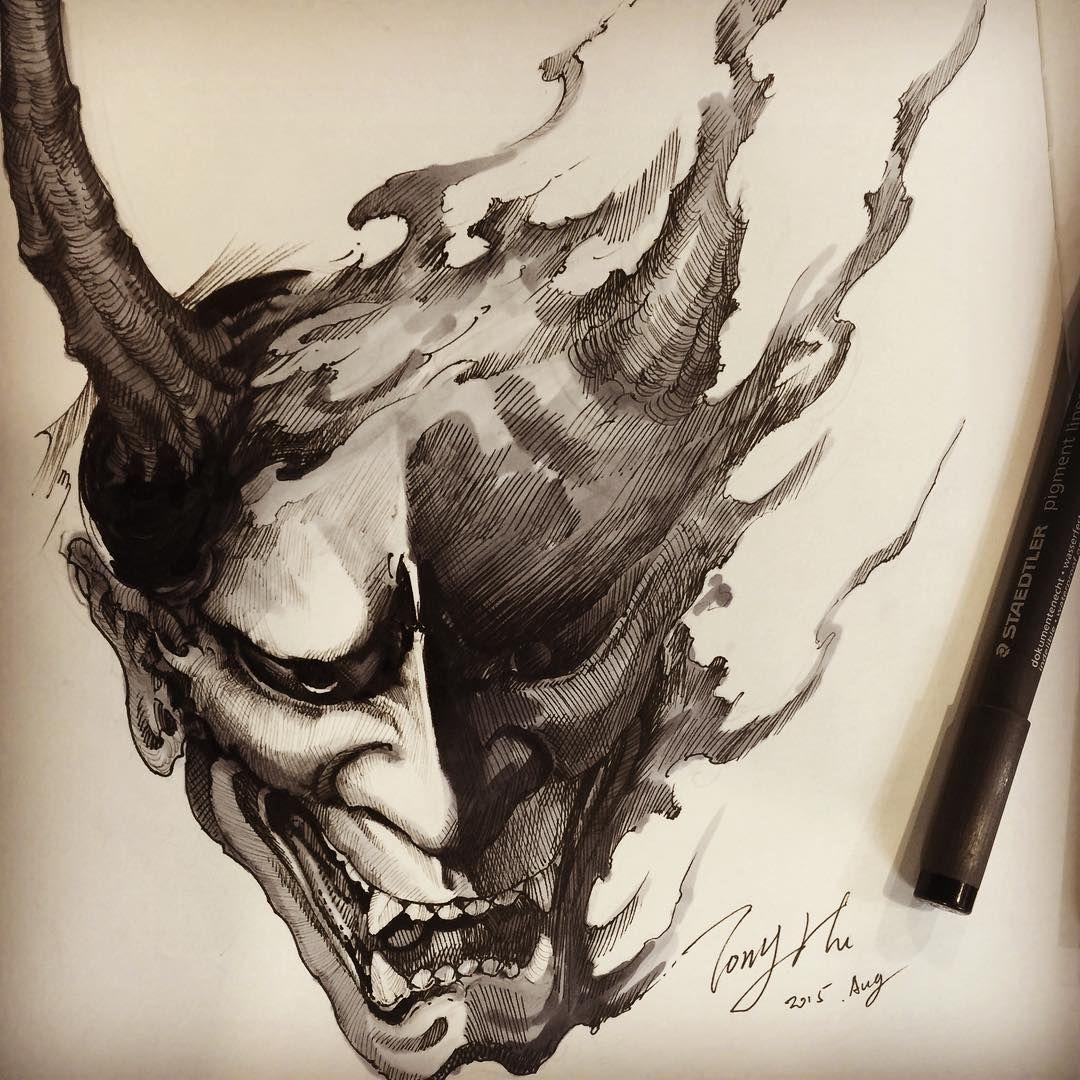 Oni Demon Tattoo