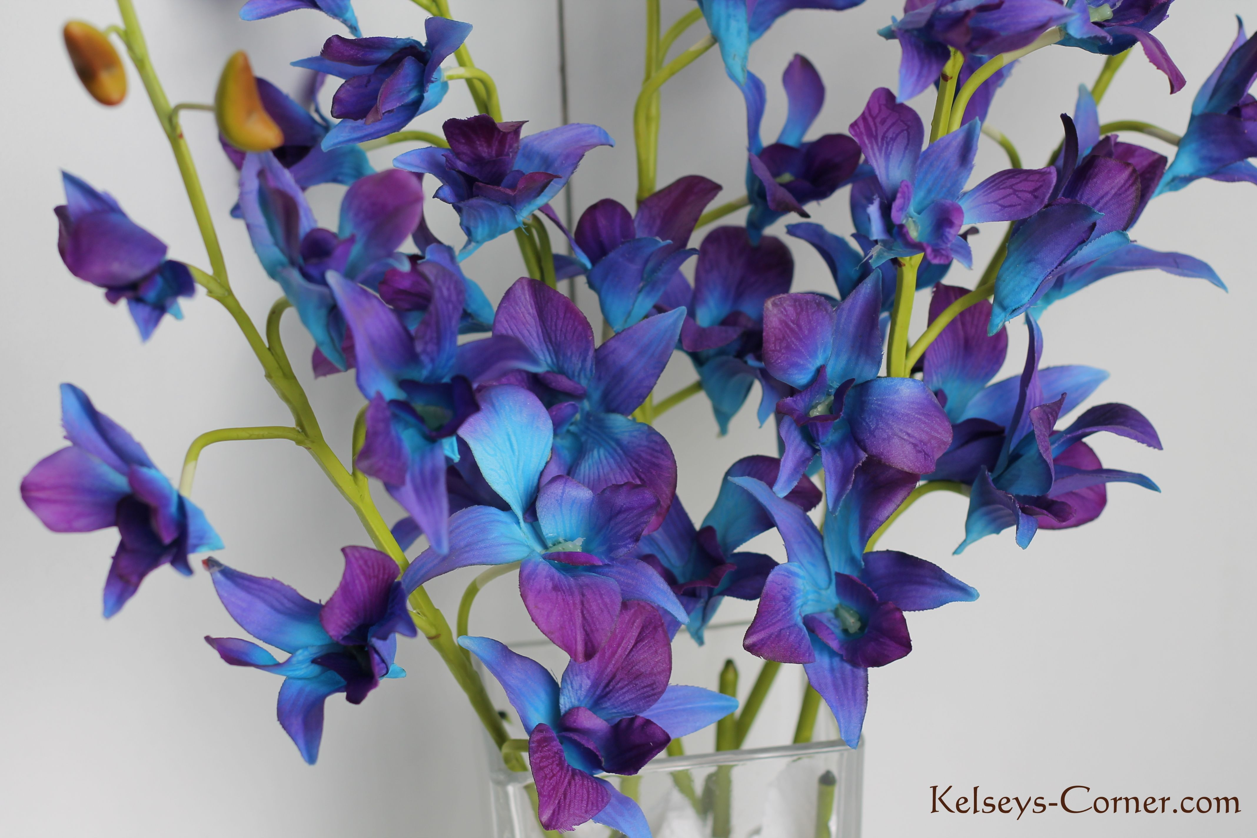 Blue orchids silk available for sale at kelseyscorner