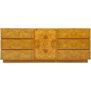 Milo Baughman Olive Burl Cabinet or Dresser