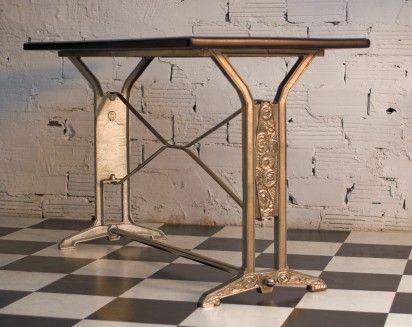 Table, art déco, vintage, rétro, ancienne, bistrot, salle à manger ...