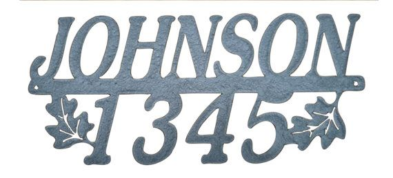 House Numbers / Metal House Numbers /Address / by MadMetalWorks / Customize