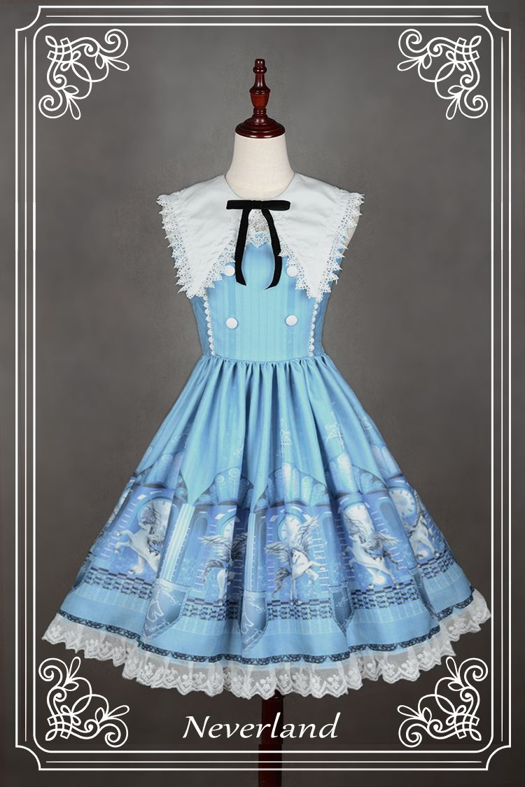 Neverland Lolita -Guardians of Chronos- Normal Waist Lolita Collar ...