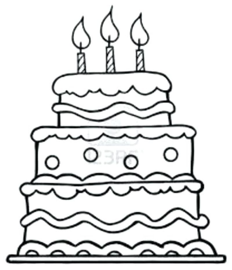 30++ Birthday cake clipart black and white no candles ideas in 2021