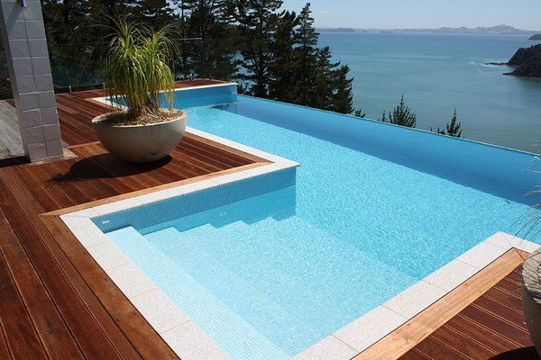 amazing above ground pool design infinity pool deck ideas wooden ...