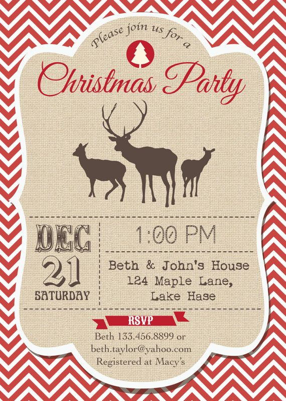 printable modern christmas party or dinner by