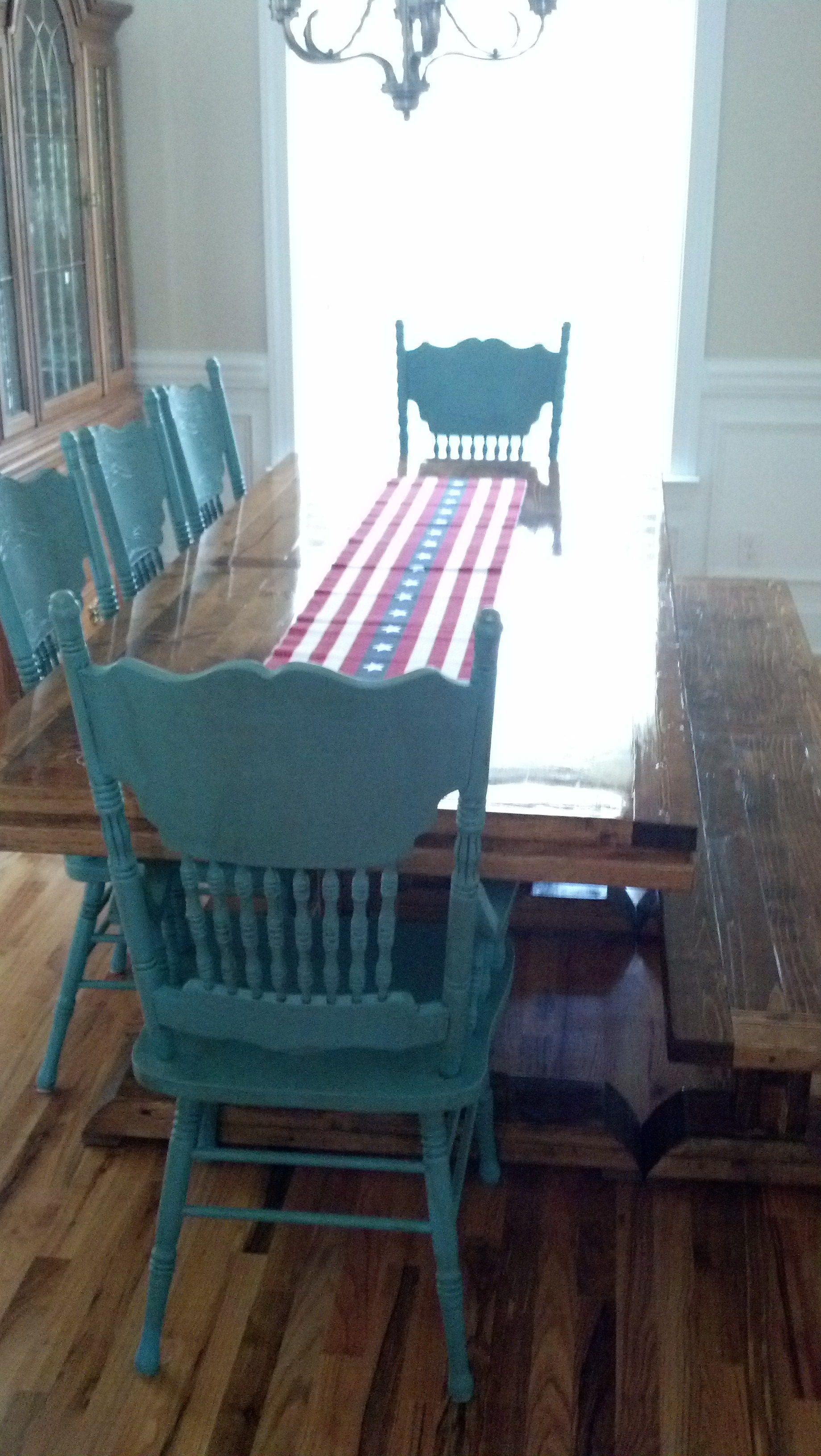 Ana white triple pedestal farmhouse table bench diy