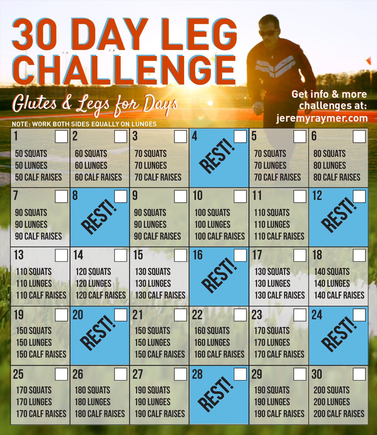 Take On This Fun 30 Day Leg Challenge With Glutes And Legs