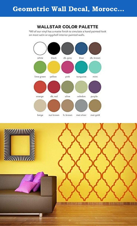 Geometric Wall Decal, Moroccan Wall Decor, Quatrefoil Wall Pattern ...