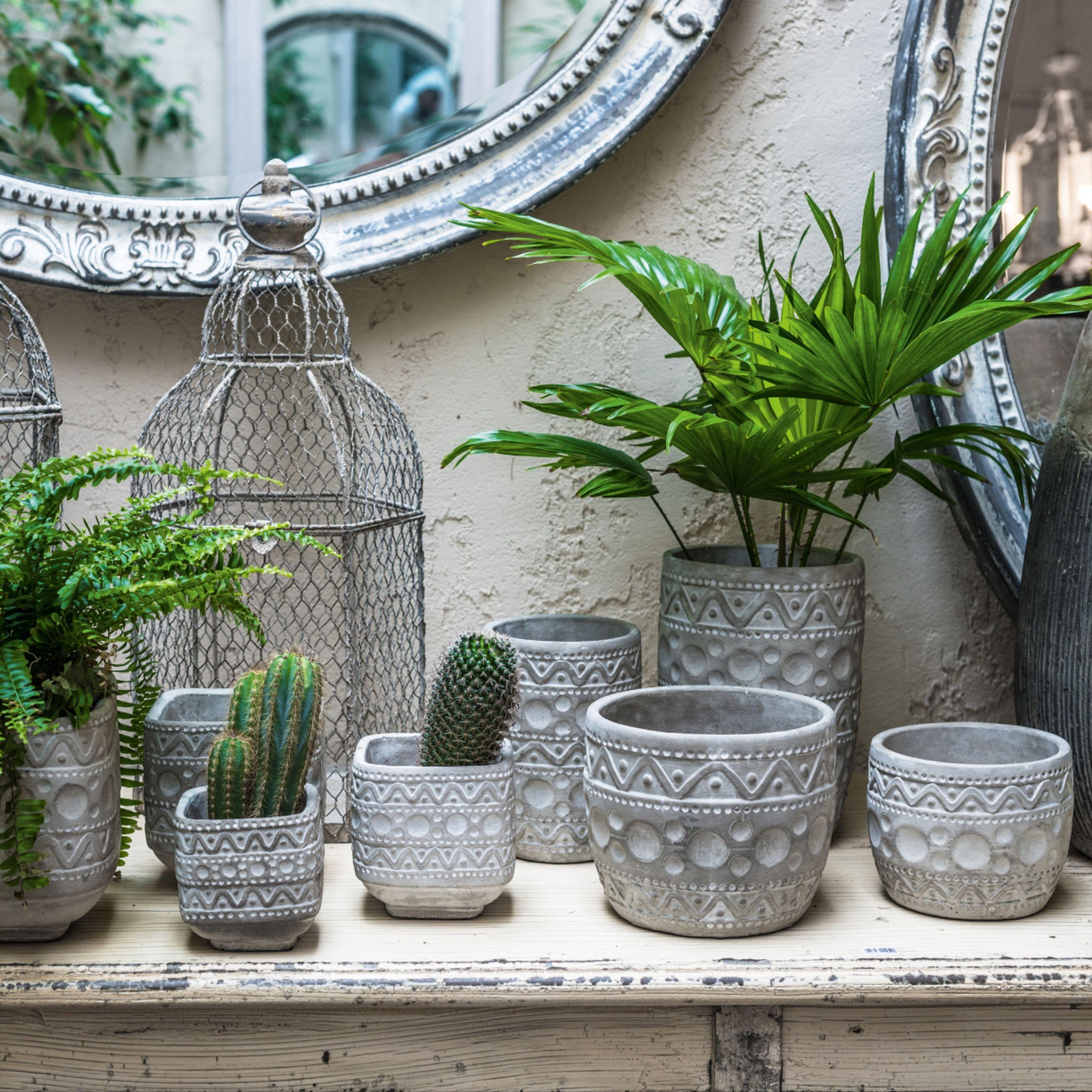 Oslonki Kwadratowe Grigio Belldeco Glass Vase Planter Pots Home Decor