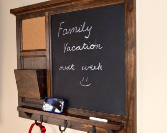 Antiqued Magnetic Chalkboard Cork Board By Beachwoodkreations
