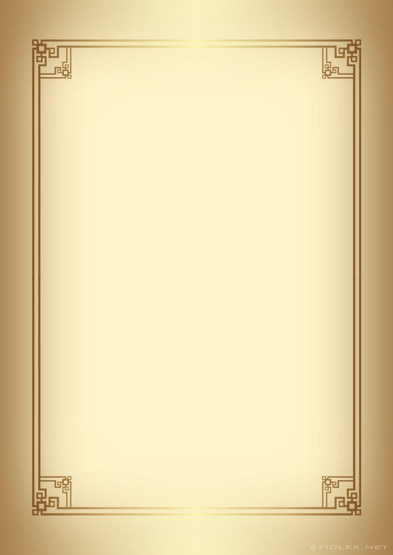 Writing Paper Golden Border On Gold Writing Paper Wedding Invitation Background Frame Background