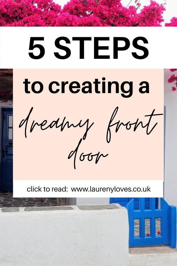 Front door decor ideas to make your home stand out. Use front door colors that will make your home pop and that will wow guests. With these 5 easy steps you'll be able to transform the look of your home and create a dreamy front door. #frontdoordecor #frontdoor #frontdoorcolors