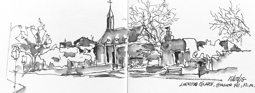 Sketching centuries of faith in New Mexico | Urban Sketchers
