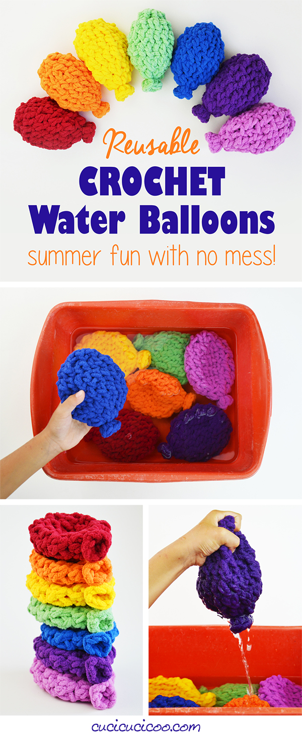 Crochet Reusable Water Balloons - Summer Fun with No Mess! - Cucicucicoo