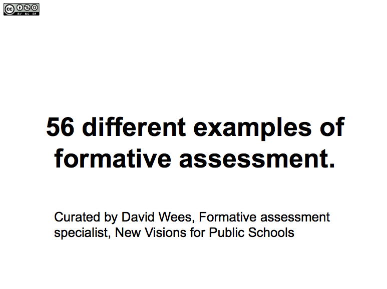 Different Examples Of Formative Assessment HttpsDocsGoogle