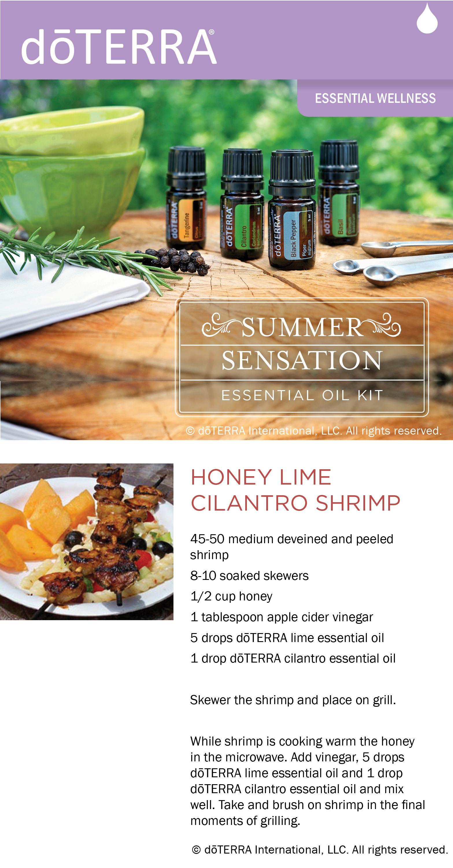 Recipe for honey lime cilantro shrimp made with dterra lime and recipe for honey lime cilantro shrimp made with dterra lime and cilantro essential oils forumfinder Images