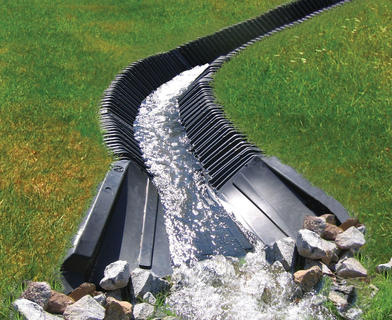Smartditch is a maintenance free and ideal solution for for Yard drainage slope