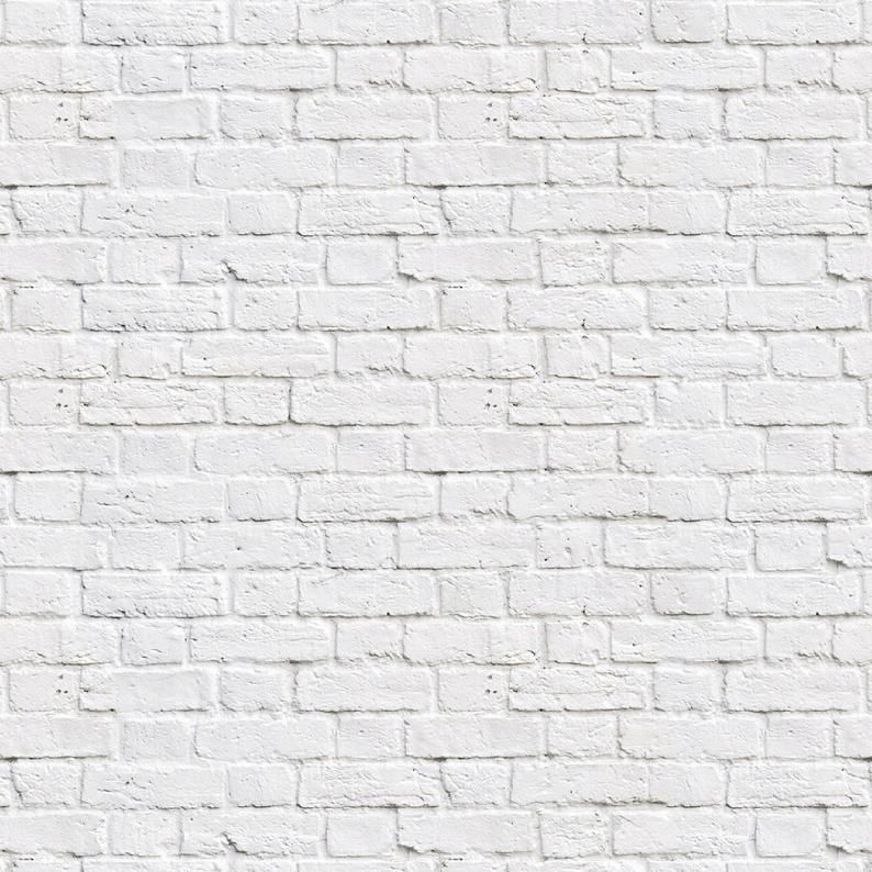 Printable Dollhouse  1:12 White Painted Bricks Instant Download A4 Printable Miniature Roombox Sheet