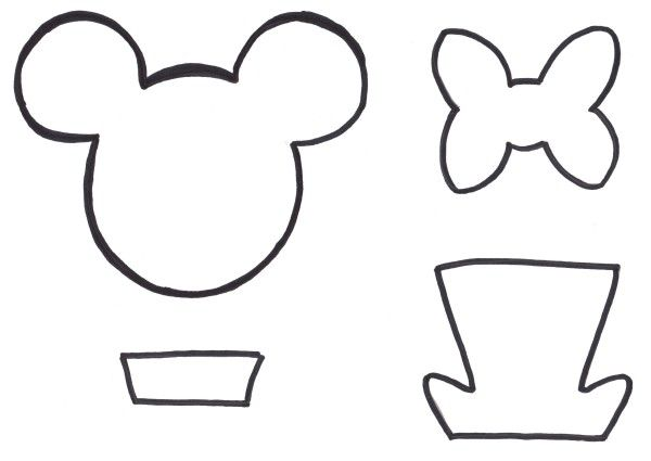 Image Result For Printable Mickey Mouse Ears Template Mickey