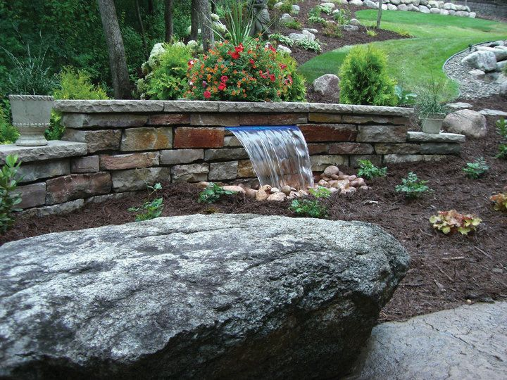 Retaining Wall Waterfalls Water Feature Wall Fountains Outdoor