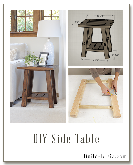 Build A Diy Side Table Building Plans By Buildbasic Www Build