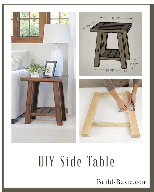 Build A Diy Side Table Building Plans By Buildbasic Www Build Basic Com Diy Side Table Furniture Diy Home Diy