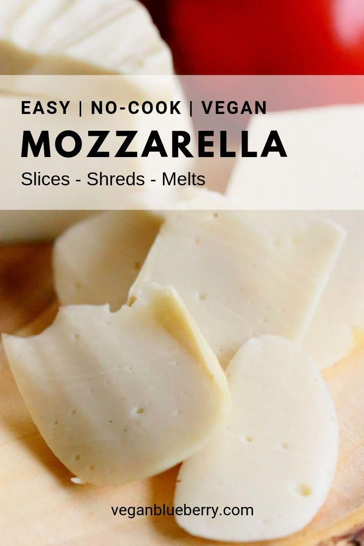 Top your pizza with the best homemade vegan mozzarella!  Make it in a blender with this quick and easy recipe in 5 minutes or less! This cashew based cheese recipe requires no cooking and it slices, melts and shreds beautifully!  Unbelievable until you try it!