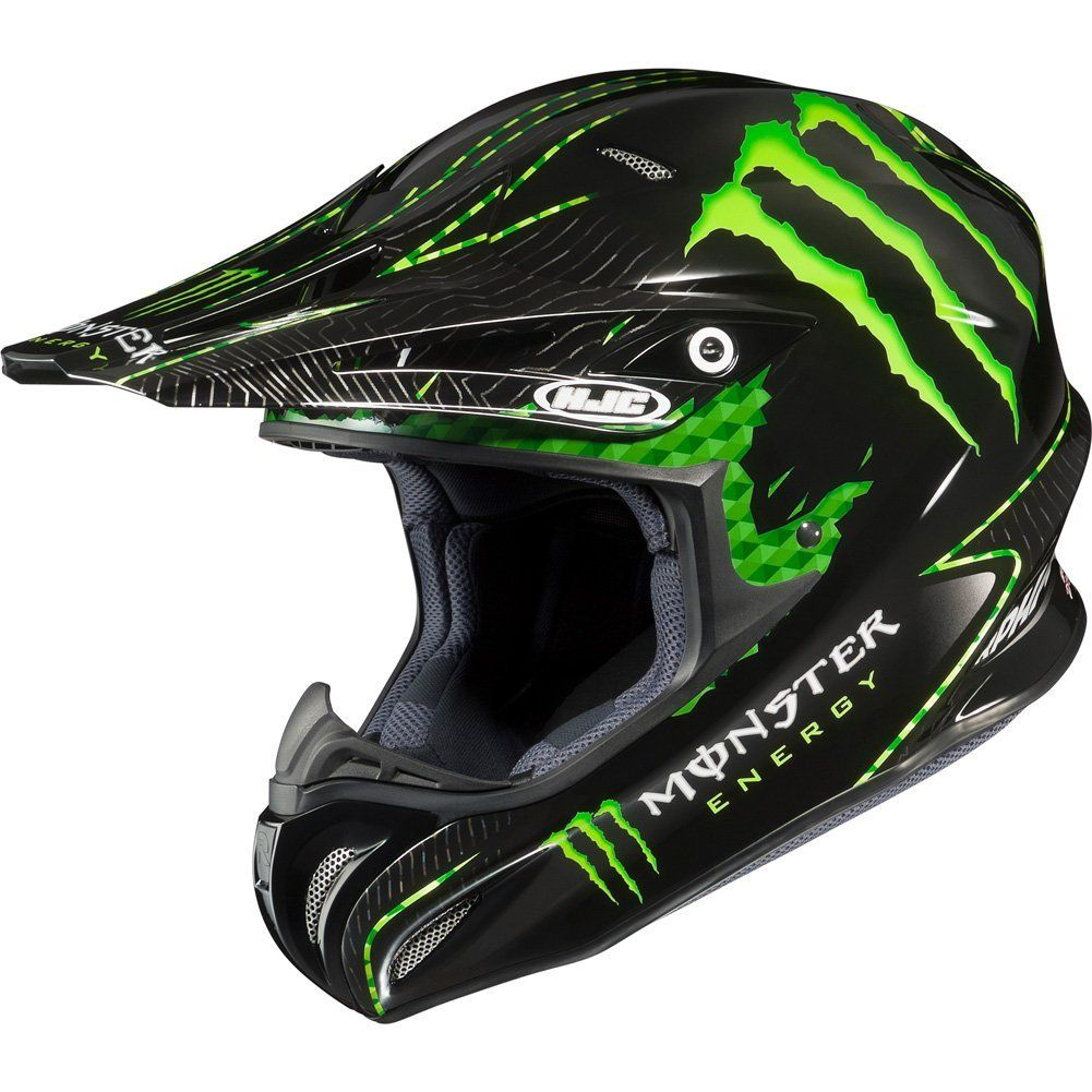 monster energy drink officially licensed hjc nate adams. Black Bedroom Furniture Sets. Home Design Ideas