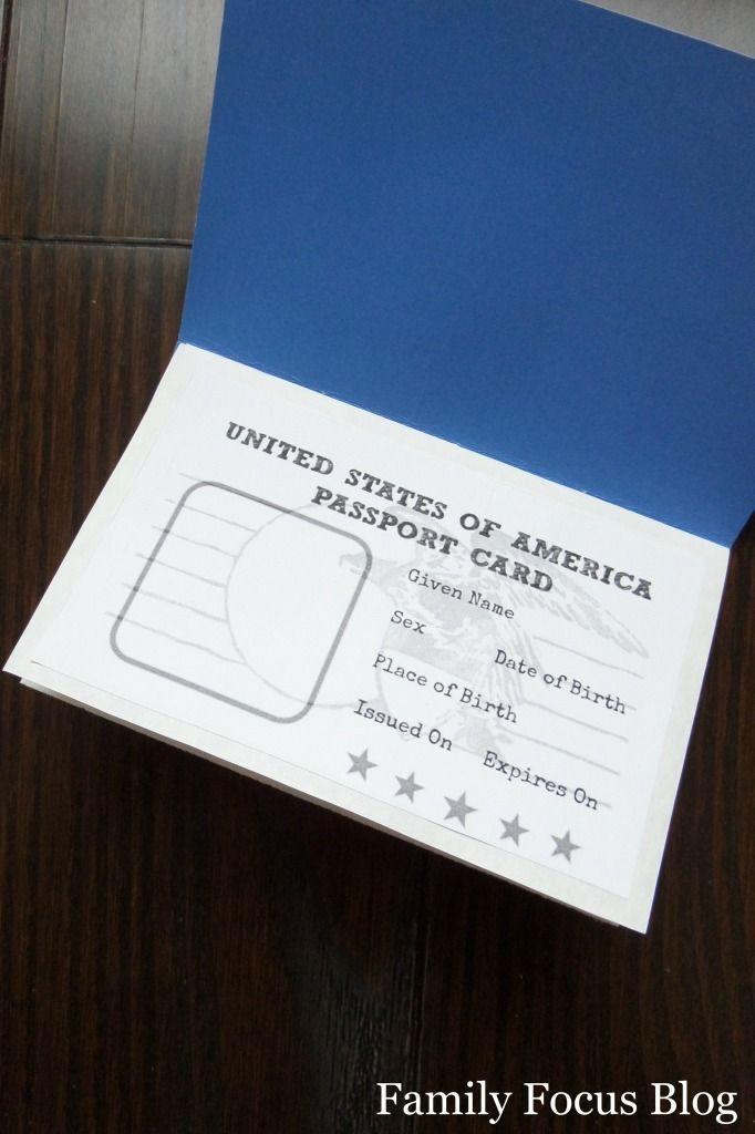 free printable passport craft  fun world geography for