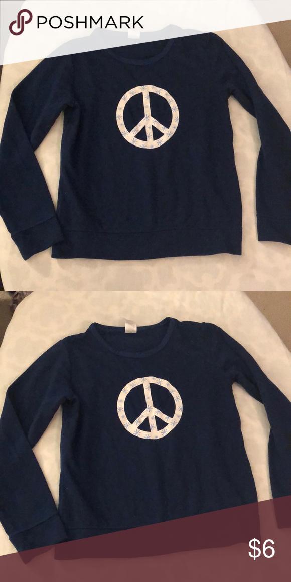 Girl's long sleeved peace shirt