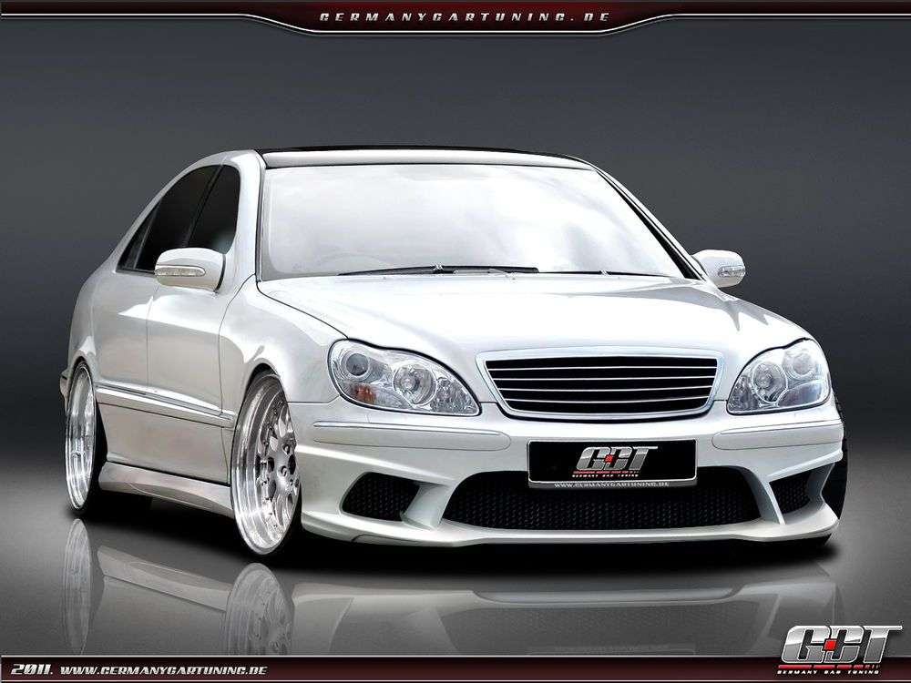 mercedes s klasse w220 komplettvers spoiler set body kit. Black Bedroom Furniture Sets. Home Design Ideas