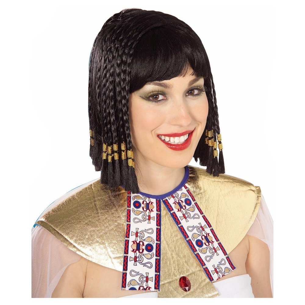 Halloween Queen of the Nile Costume Wig Black - One Size Fits Most ... 6fbaed42bc00