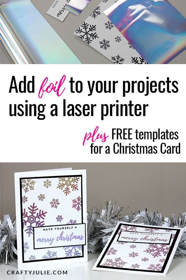 foil laser projects craft printer learn papercrafting paper card