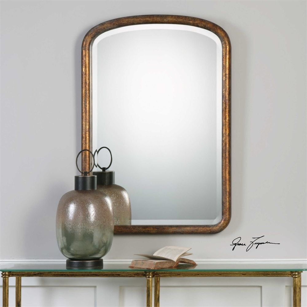 50e4604e1d3 Uttermost Vena Gold Arch Mirror - MyBarnwoodFrames.com