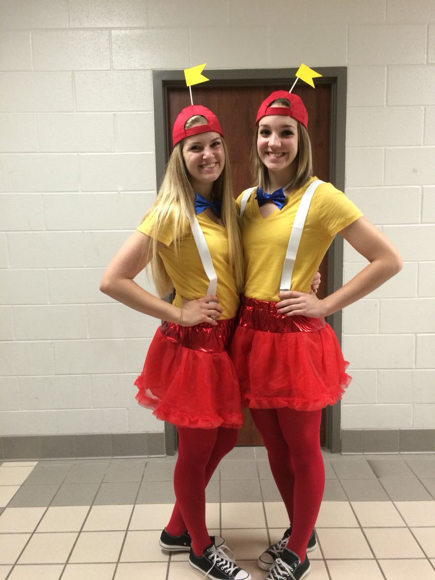 Best friend twin day for school spirit week  Tweedledee and Tweedledum. Best friend twin day for school spirit week  Tweedledee and