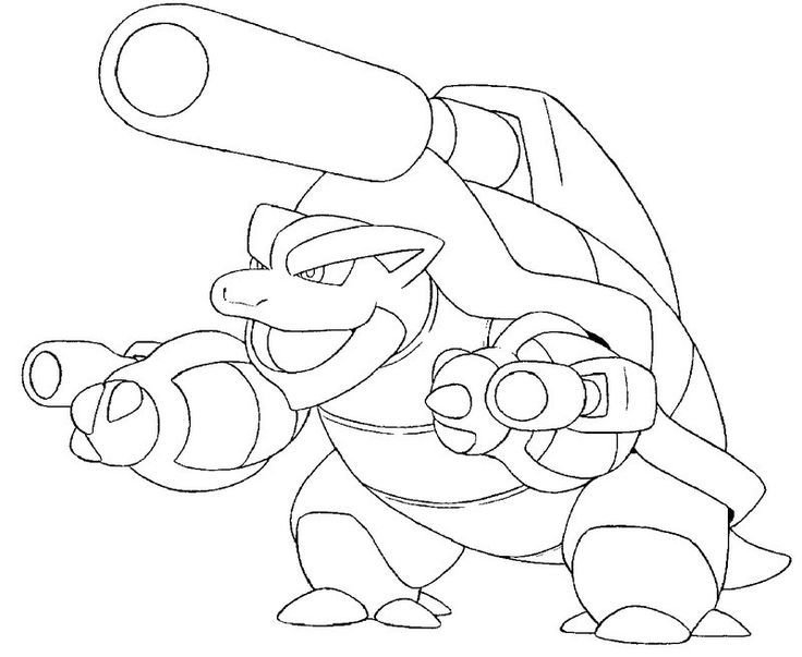 Image Result For Mega Blastoise Forms Coloring Page Summer Fun For