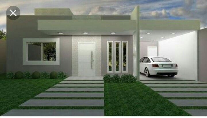 Fachada de frente Diseño de casa Pinterest Fachadas, Casas y