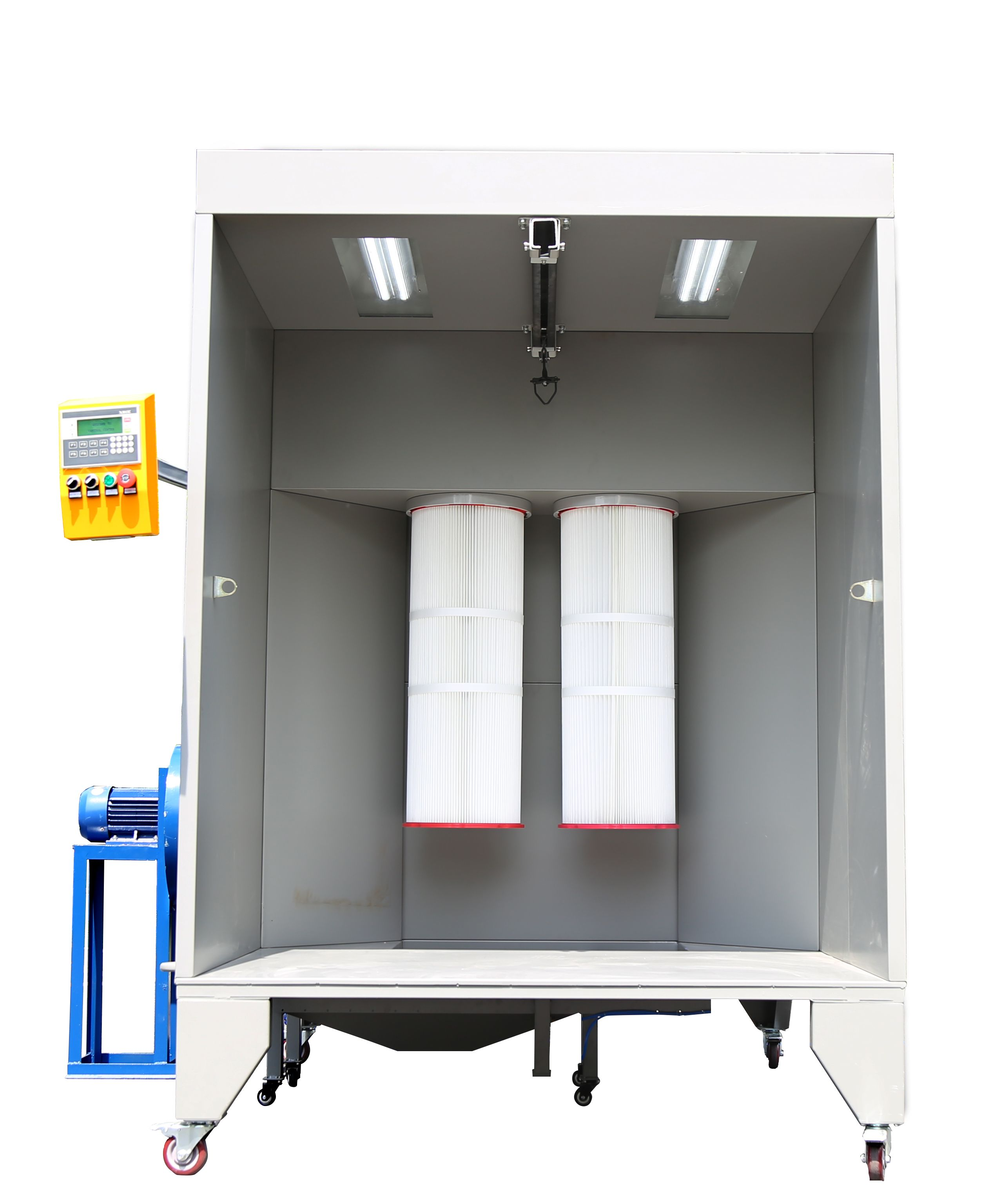 Manual Powder Coating Booth With 2pcs Filters Powdercoating Powdercoatinggun Powdercoatingequipment P Spray Booth Powder Coating Equipment Powder Coating