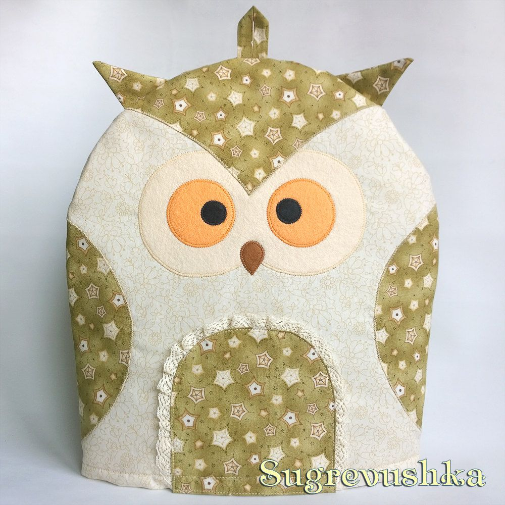 "Tea cosy ""Owl Olive"" by Sugrevushka on Etsy"