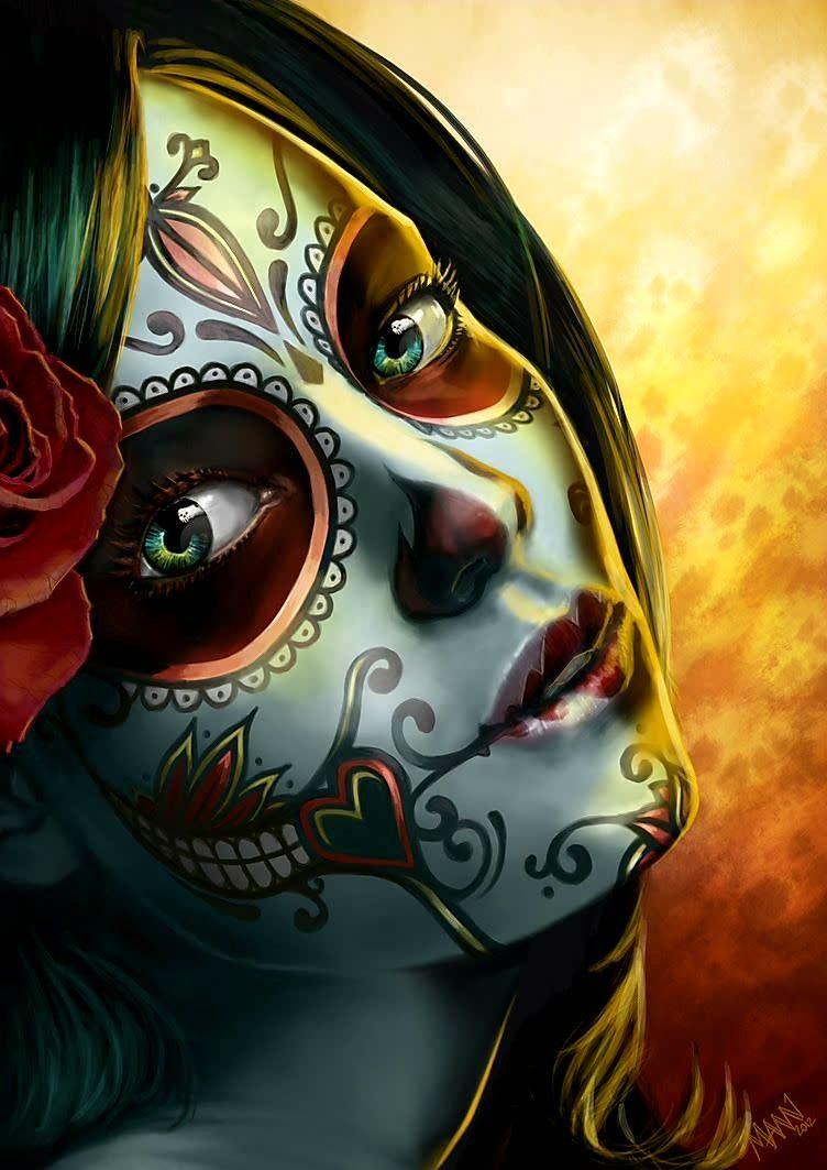 Custom Painted Dia De Lost Muertos Skull Adidas Yeezys